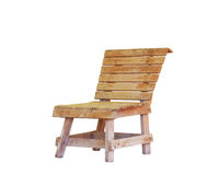 Wooden chair isolated on white Stock Image