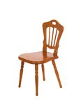 Wooden chair isolated on a white Stock Photos