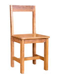 Wooden chair isolated Stock Images