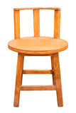 Wooden chair isolated. Stock Photos