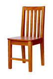 Wooden chair over white, with clipping path Stock Image