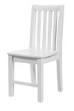 Wooden chair over white, with clipping path Royalty Free Stock Images