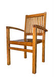 Wooden chair  over white, with clipping path Stock Images