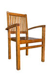 Wooden chair  over white, with clipping path Stock Photography