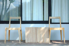 Wooden chair in resort royalty free stock images