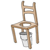 Wooden chair retro commode drawing Stock Photos