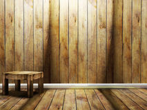 Wooden chair in the room Stock Photos
