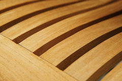 Wooden chair seat detail Royalty Free Stock Photos