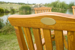 Wooden chair seat detail Stock Images