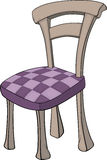 Wooden chair in sections Royalty Free Stock Image