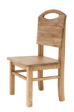 Wooden chair. Simple wooden kid desk chair Royalty Free Stock Photography