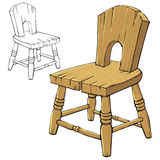 Wooden chair. Single colorful wooden chair on white Royalty Free Stock Image