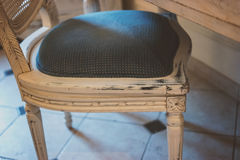 Wooden chair with soft cushion. Stock Photography