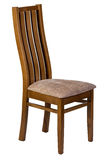 Wooden chair with soft seat isolated Royalty Free Stock Photos