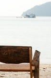 Wooden chair at Surin island, Thailand Stock Photos