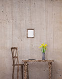 Wooden chair and table Stock Photo