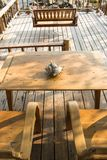 Wooden chair to sit and watch the beautiful sea. Wooden chair to sit and watch the beautiful sea Stock Photo