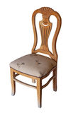 Wooden chair on white Stock Photography
