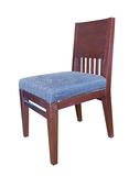Wooden chair on white Stock Images