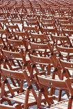 Wooden chairs Stock Photo