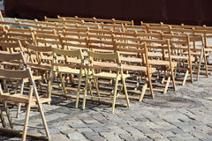 Wooden chairs Royalty Free Stock Photography