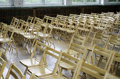 Wooden chairs in the conference room or at school Stock Photography