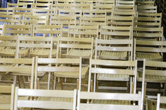 Wooden chairs in the conference room or st school Royalty Free Stock Photos