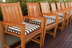 Wooden Chairs On Deck Royalty Free Stock Image