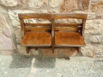 Wooden chairs  Huesca Aragon Spain Stock Photos