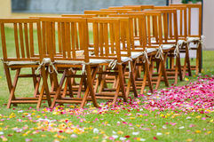 Wedding reception on the garden Stock Photography