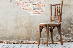 Wooden chairs in the old home. Stock Images
