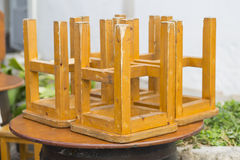 Wooden chairs. Royalty Free Stock Image