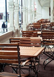 Wooden chairs Royalty Free Stock Images