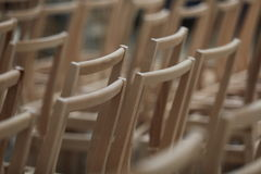 Wooden chairs. In a stock detail Royalty Free Stock Image