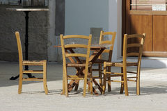 Wooden chairs and table Royalty Free Stock Photo