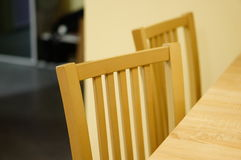 Wooden chairs Royalty Free Stock Photo
