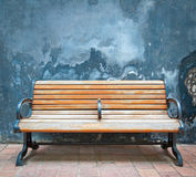 Wooden chairs and walls Royalty Free Stock Images