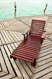 Wooden Chaise Longue Stock Photos