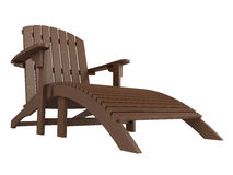 Wooden chaise lounge Royalty Free Stock Photos