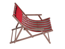 Wooden chaise lounge Royalty Free Stock Photo