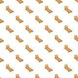 Wooden chaise lounge pattern, cartoon style Royalty Free Stock Images