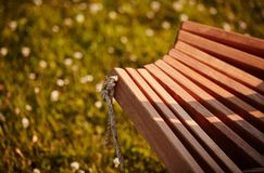 Wooden chaise lounge. Texture of wooden chaise lounge . image was made in the park Royalty Free Stock Images