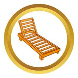 Wooden chaise lounge vector icon Royalty Free Stock Image