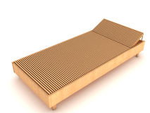 Wooden chaise lounge №2 Stock Photo