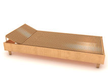Wooden chaise lounge №3 Stock Photography