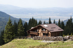 Wooden chalet - RAW format Stock Photography