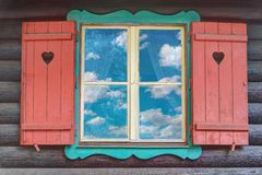 Wooden Chalet Window Stock Photos