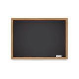 Wooden chalkboard for lessons and records with chalk Stock Photo