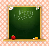 Wooden chalkboard for restaurant menu Stock Photography