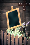 Wooden chalkboard Stock Photos